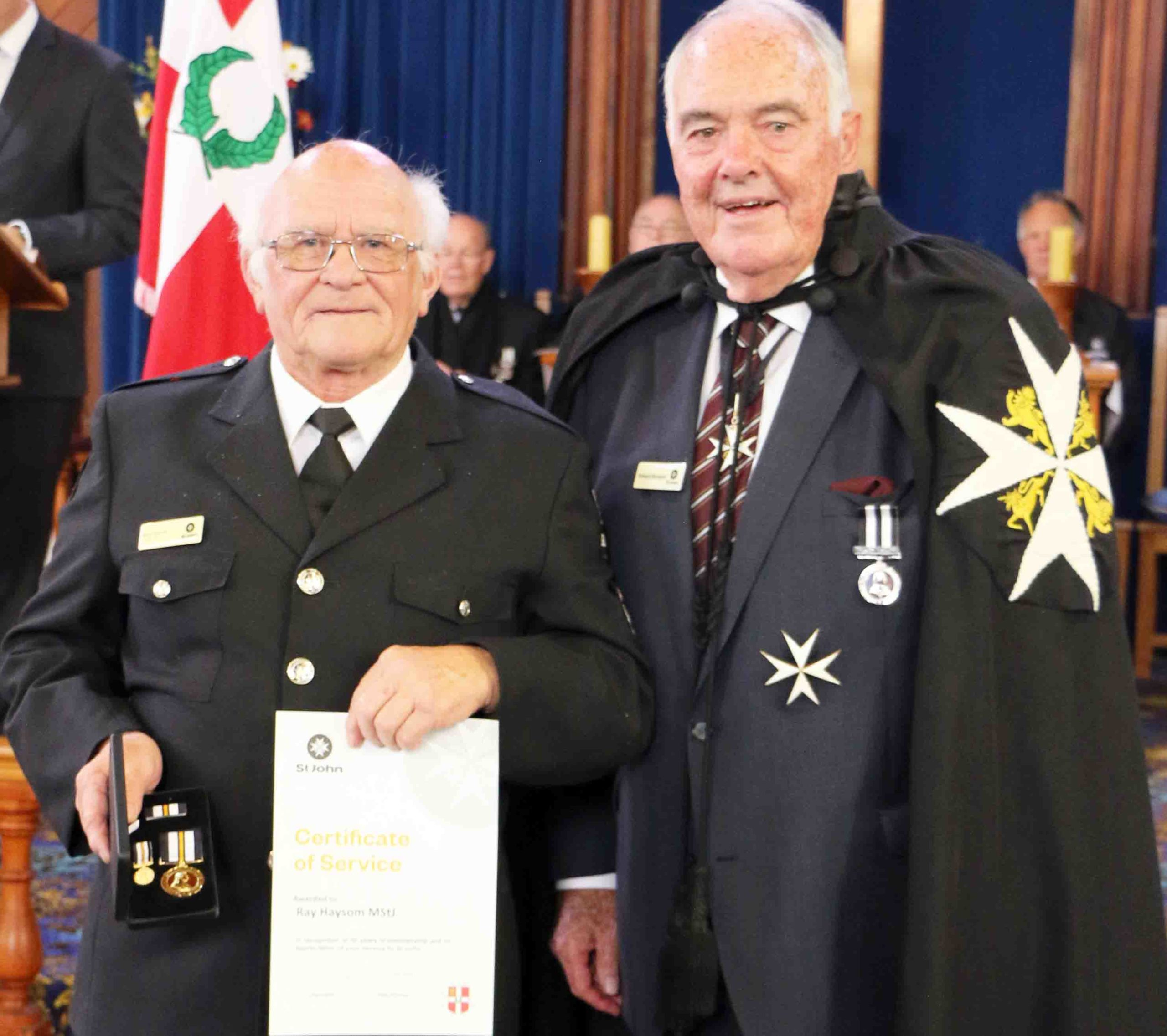 You are currently viewing Long-serving Hauraki-Coromandel St John officers honoured