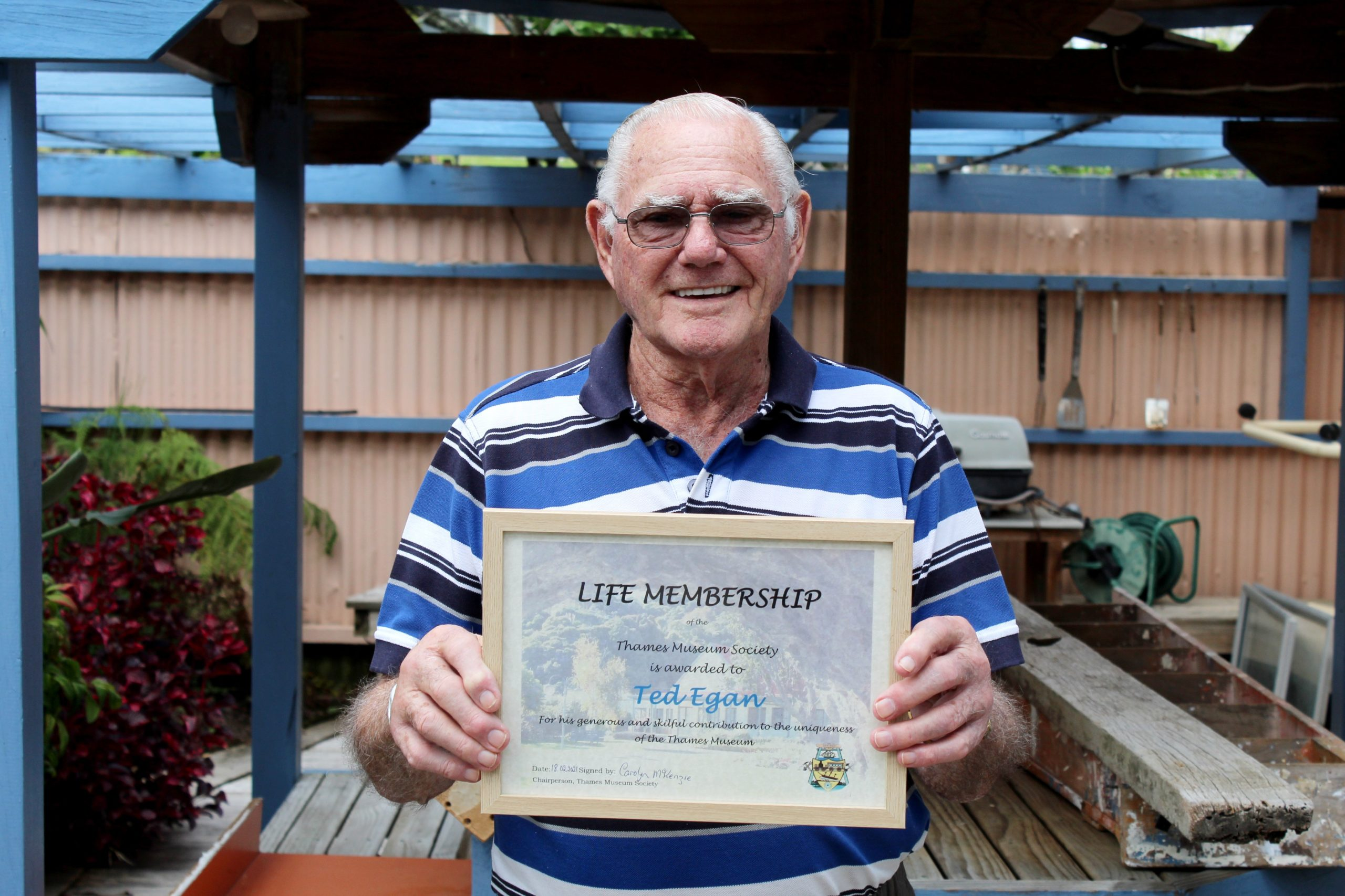 You are currently viewing Thames model builder Ted Egan honored with life membership