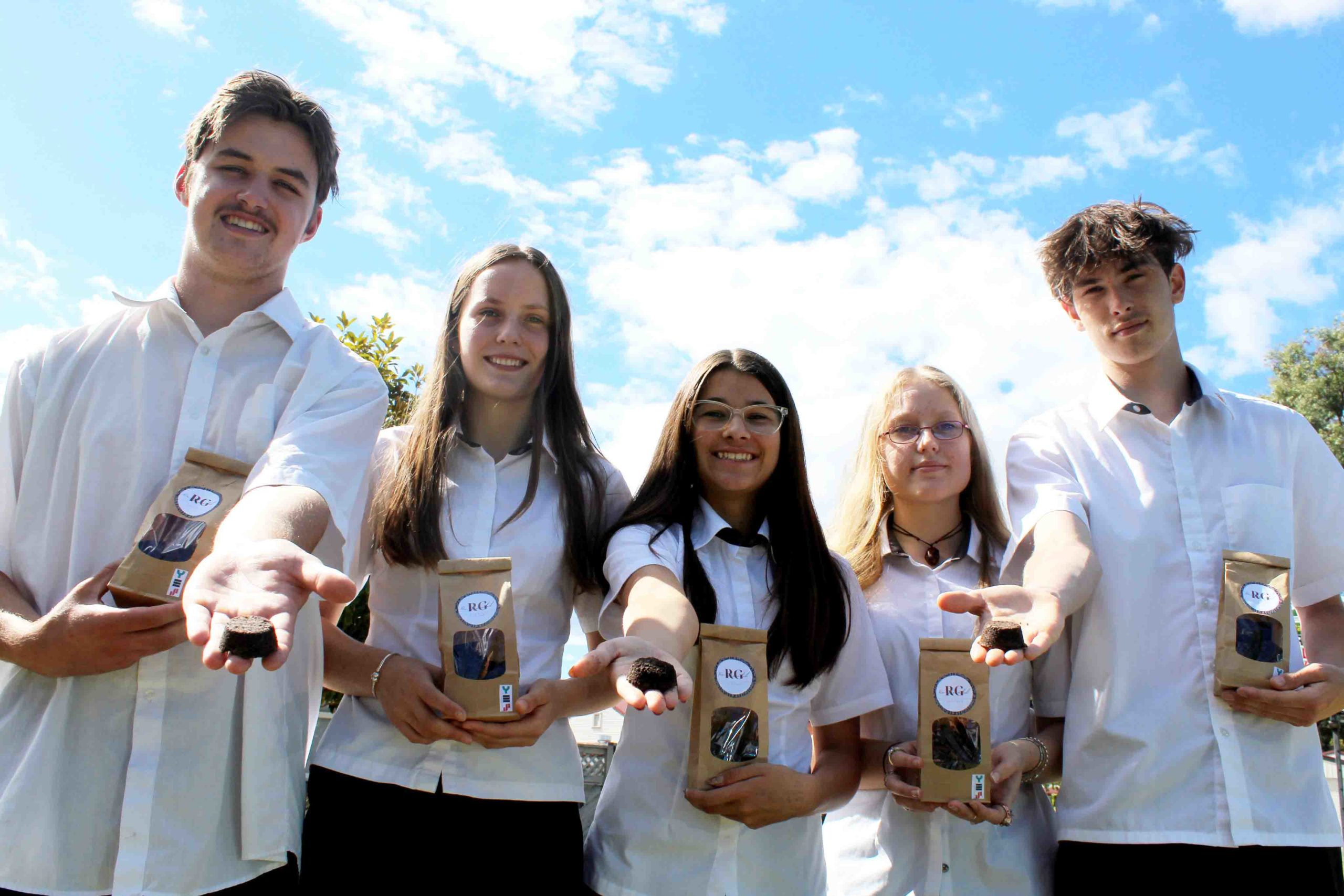 You are currently viewing Coffee grounds fire up Paeroa students' business